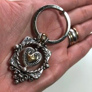 Brighton Accessories - Brighton silver/gold heart key ring